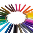 Colouring crayon pencils  — Stock Photo