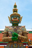 Green Demon Guardian of Wat Phra Kaew temple — Stock Photo