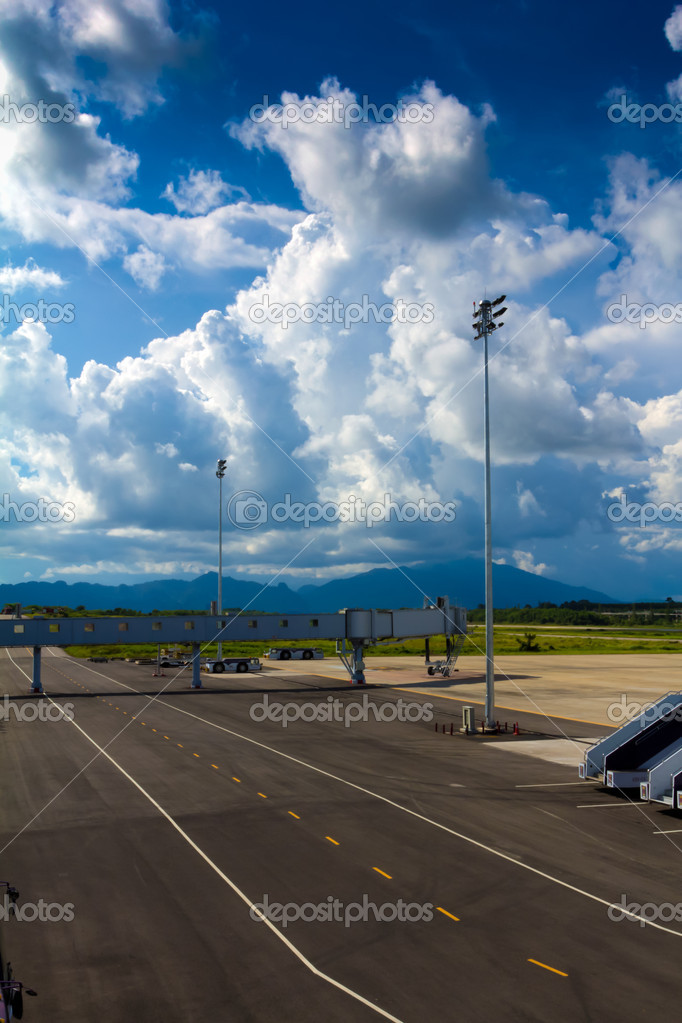 Airfield departure in Krabi airport at Thailand. — Stock Photo #12097133