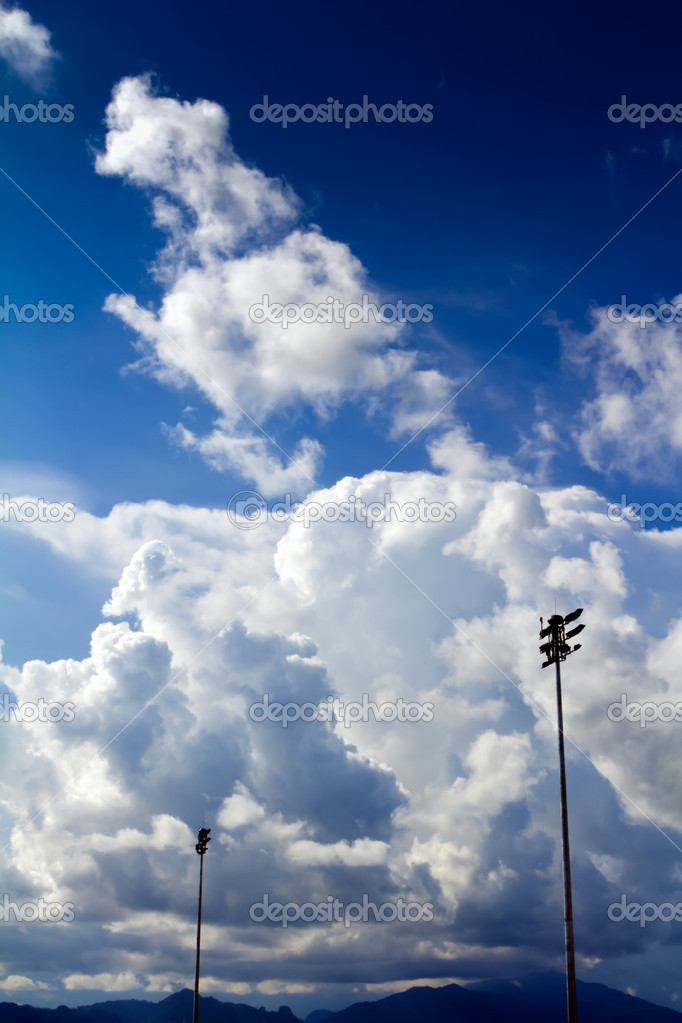 Blue sky background with tiny clouds — Stock Photo #12097146