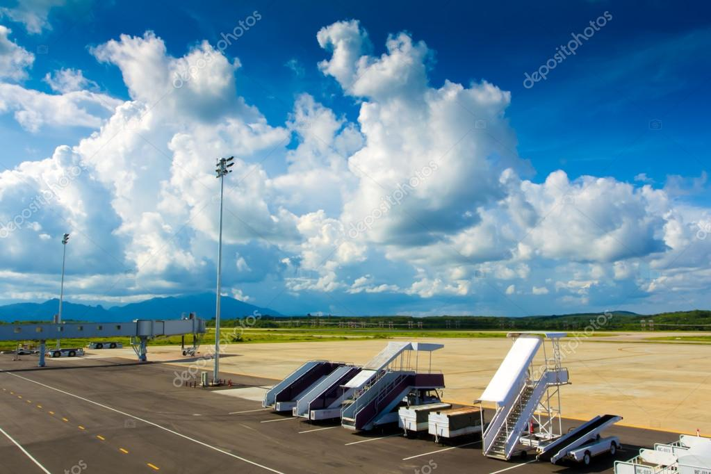 Airfield departure in Krabi airport at Thailand. — Stock Photo #12097154