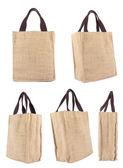 Colección reciclar caja de cartón reciclado ecología bolso de compras — Foto de Stock