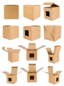 Collection recycle cardboard box — Stock Photo
