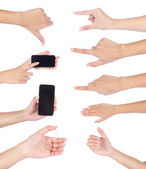 Sada gesta rukou, izolované — Stock fotografie