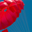 Red parachute — Stock Photo