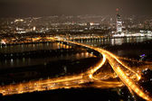 Night views of Vienna — Stock Photo