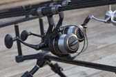Spinning fishing reel — Foto de Stock