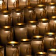 Candles in Notre Dame - Stock Photo