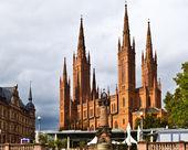 Marktkirche Wiesbaden — Stock Photo