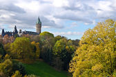 Luxembourg downtown and park — Stock Photo