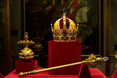 Habsburg's crown, sceptre and orb — Stock Photo