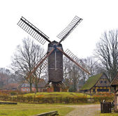 Wooden windmill — Stock fotografie