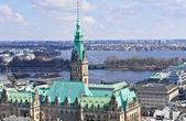 汉堡城景 — 图库照片
