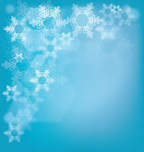 Frosted glass background with snowflakes — Stock Vector