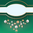 Stock Vector: Christmas background with hanging ball