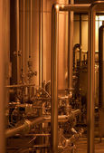 Pipes and pumps background — Stockfoto