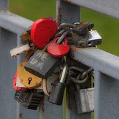Ritual wedding locks — Stock Photo