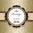 Vintage frame template design - Stock Vector