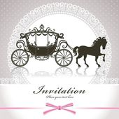 Vintage Luxury carriage — Stock Vector