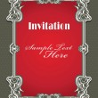 Stock Vector: Vintage invitation frame template