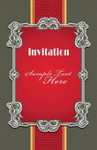 Vintage invitation frame template — Vettoriale Stock