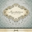 Vintage invitation frame template — Vector de stock