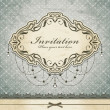Vintage invitation frame template — Stockvektor