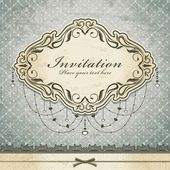 Vintage invitation frame template — Stock Vector