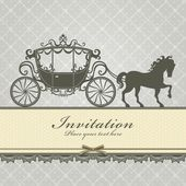 Vintage Luxury carriage invitation template — Stock Vector