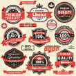Vintage Premium quality labels - Stockvectorbeeld