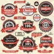 Vintage Premium quality labels - Stock Vector