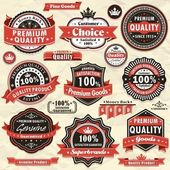 Labels de qualité premium vintage — Vecteur