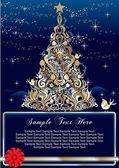 Vintage jul bakgrund — Stockvektor
