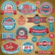 Vintage Sale frame label set template — Stock Vector