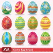 Vintage easter egg design set — Stock Vector