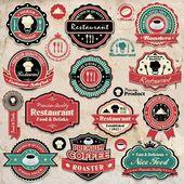 Gabarit de jeu de restaurant vintage — Vecteur