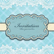 Vintage frame invitation template - Stockvectorbeeld