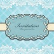 Vintage frame invitation template - 图库矢量图片