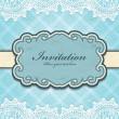 Vintage frame invitation template — Stock Vector