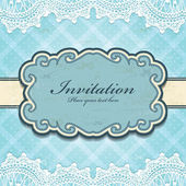 Vintage frame invitation template — Stock Vector