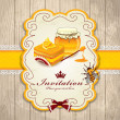 Vintage frame with Honey set template — Stock Vector #25427927