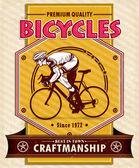 Projekt plakatu zabytkowych rowerów — Wektor stockowy
