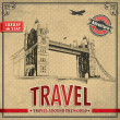 Vintage travel london vacation poster — Stock Vector #28384847