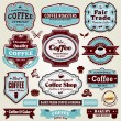 Vintage frame Coffee label set — Stock Vector
