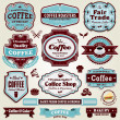 Vintage frame Coffee label set — Stockvectorbeeld