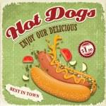 Vintage hotdog poster design — Stock Vector #29510391