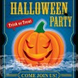 Vintage halloween party poster design — Stock Vector #29918975
