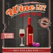 Vintage Wine label poster  — Stock Vector