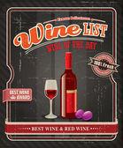 Affiche de l'étiquette de vin Vintage — Vecteur