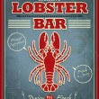 Vintage lobster bar poster design — Stock Vector #31606317